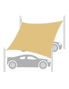 parcheggio coperto tipo carport con vela ombreggiante
