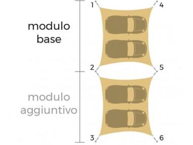 Carport a vela copertura auto modulare con vela ombreggiante