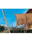 Palo per tende a vela: modello Ulisse Corten inclinazione 90°