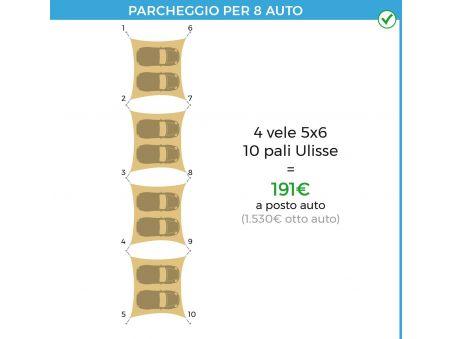 EasyShade Parking KIT 4 vele 10 pali