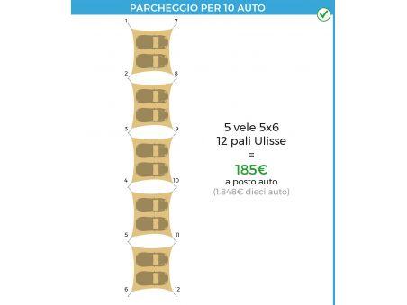 EasyShade Parking KIT 5 vele 12 pali
