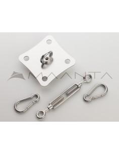 Kit ancoraggio su parete SimplE - INOX / ZINCATO