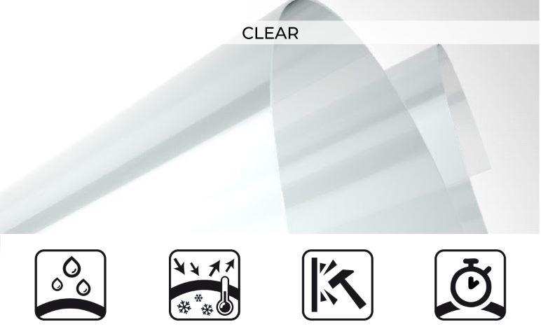 clear pvc trasparente per tende a rullo