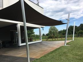 Tenda A Vela Quadrata : Tenda a vela quadrata ombreggiante ingenua vela ombreggiante con